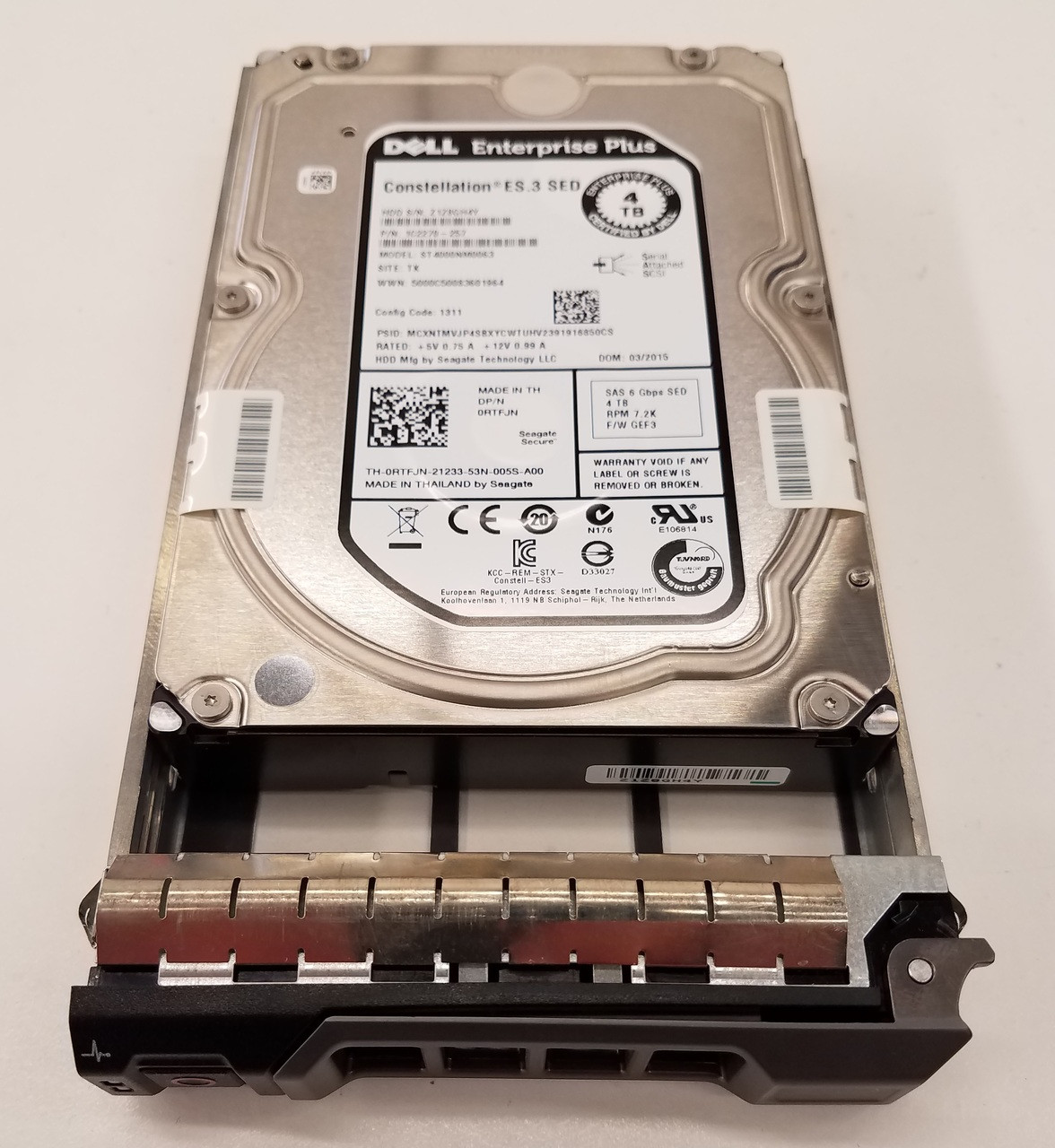 Dell RTFJN 4TB SAS SED 7200 3.5 Hard drive ST4000NM0063