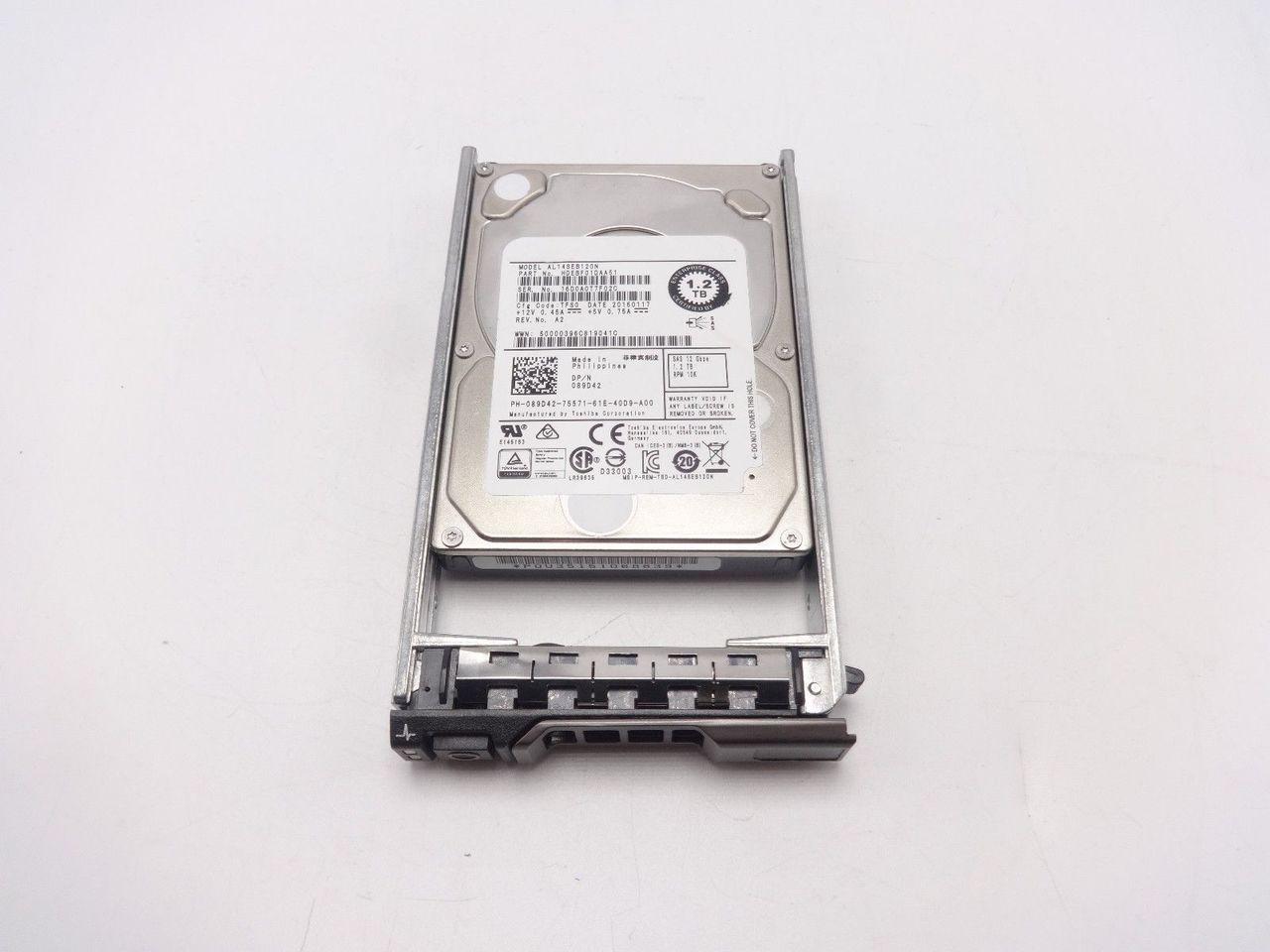 DELL 89D42 1.2TB 10K 12GBPS SAS 2.5 Hard Drive HDEBF01DAA51