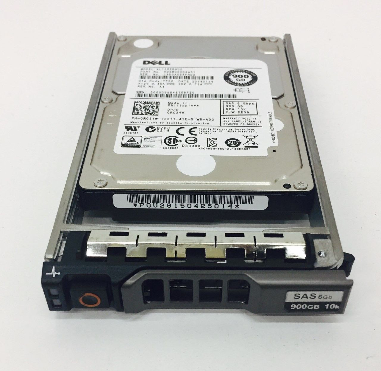 Dell RC34W 900GB SAS 2.5 10K 6GBPS HDEBC00DAA51