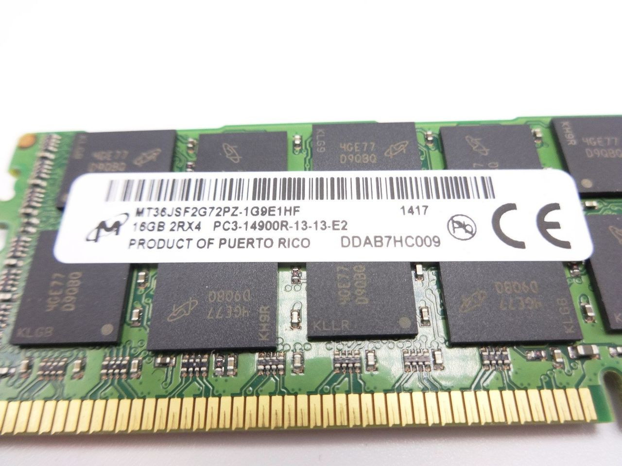 HP 708641-B21 16GB 14900R 2Rx4 memory module 712383-081 ***Server memory only***