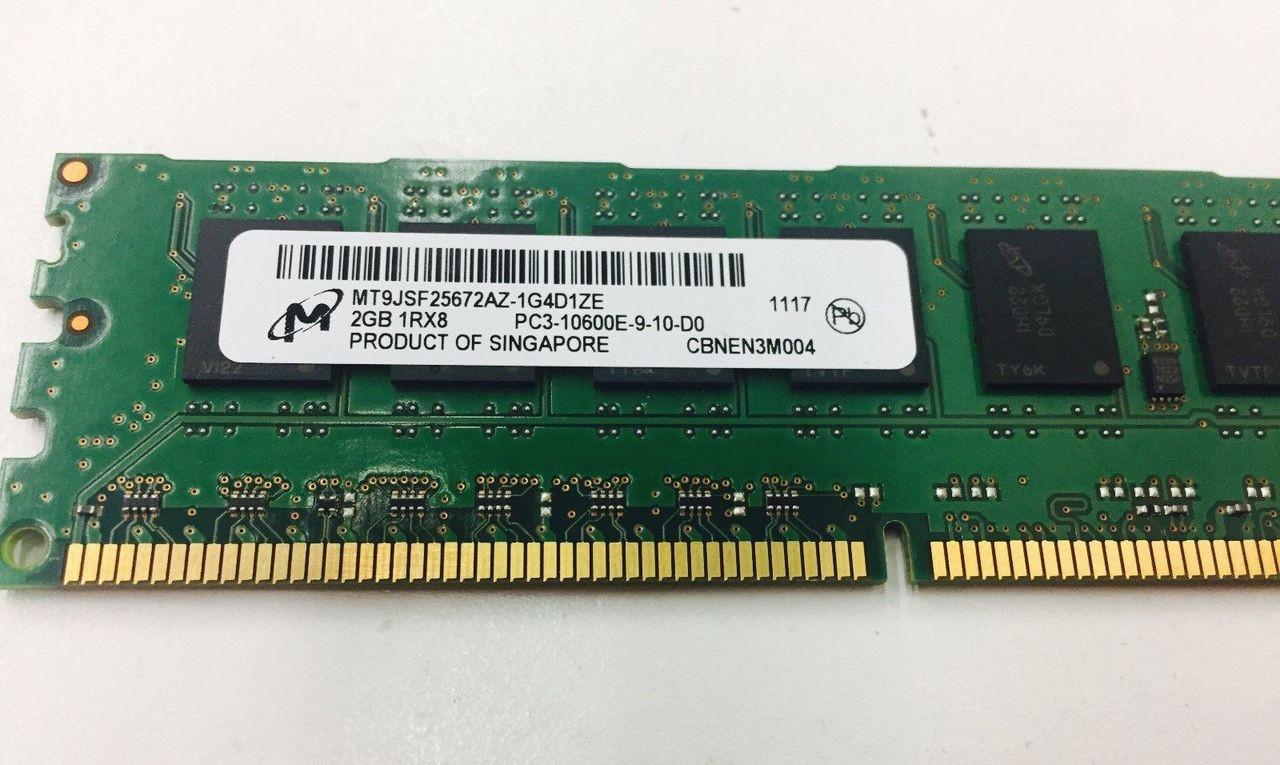 MICRON MT9JSF25672AZ-1G4D1 2GB PC3 10600E 1RX8 Memory dimm