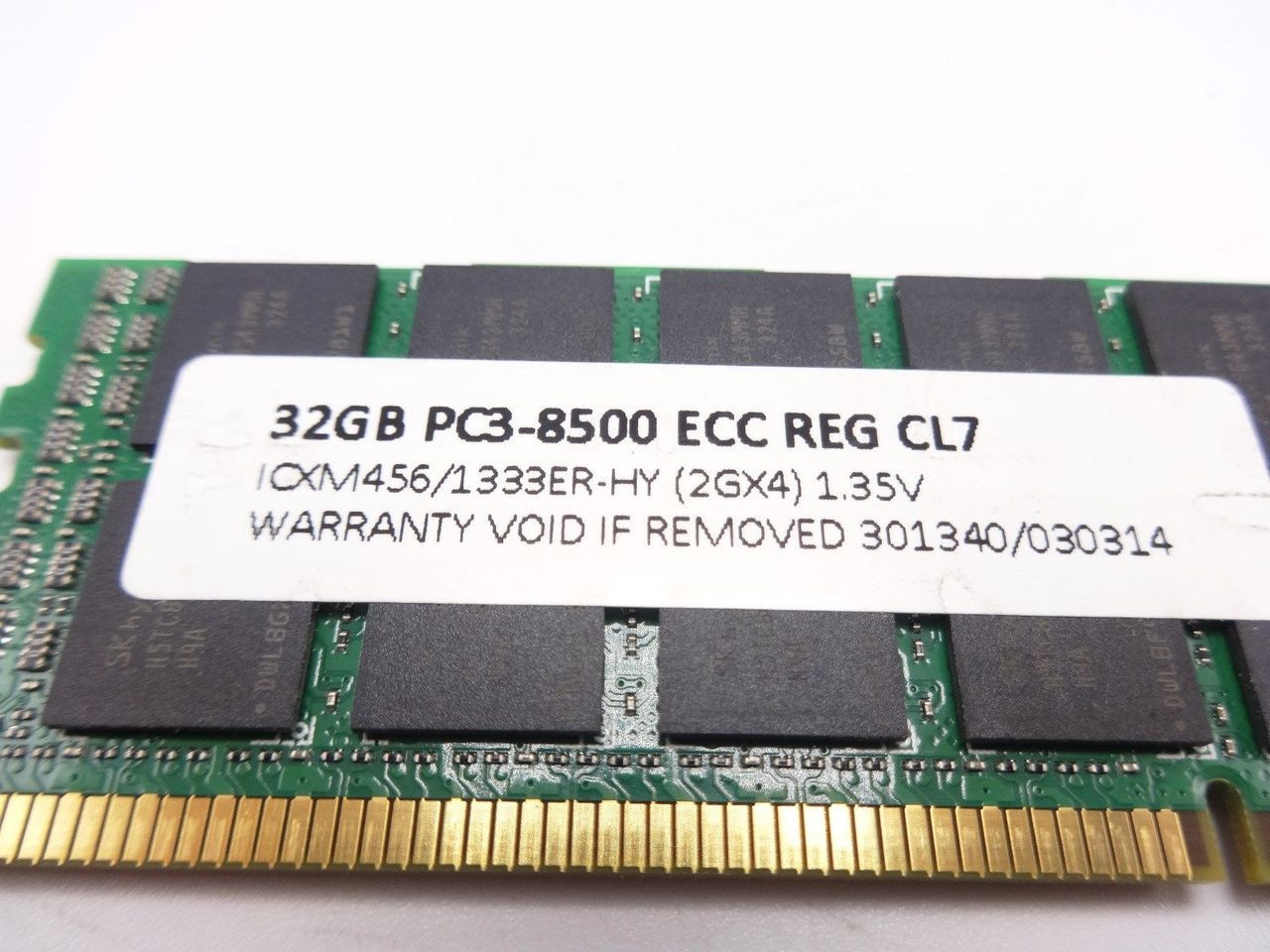 HP 628975-081-C 32GB 4Rx4 PC3L 8500 clone memory 632205-001-C*Server memory only