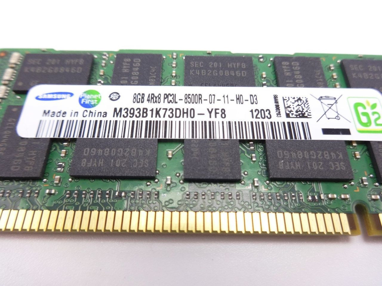 Samsung M393B1K73DH0-YF8 8GB PC3L 8500R 4RX8 memory dimm ***Server memory only**