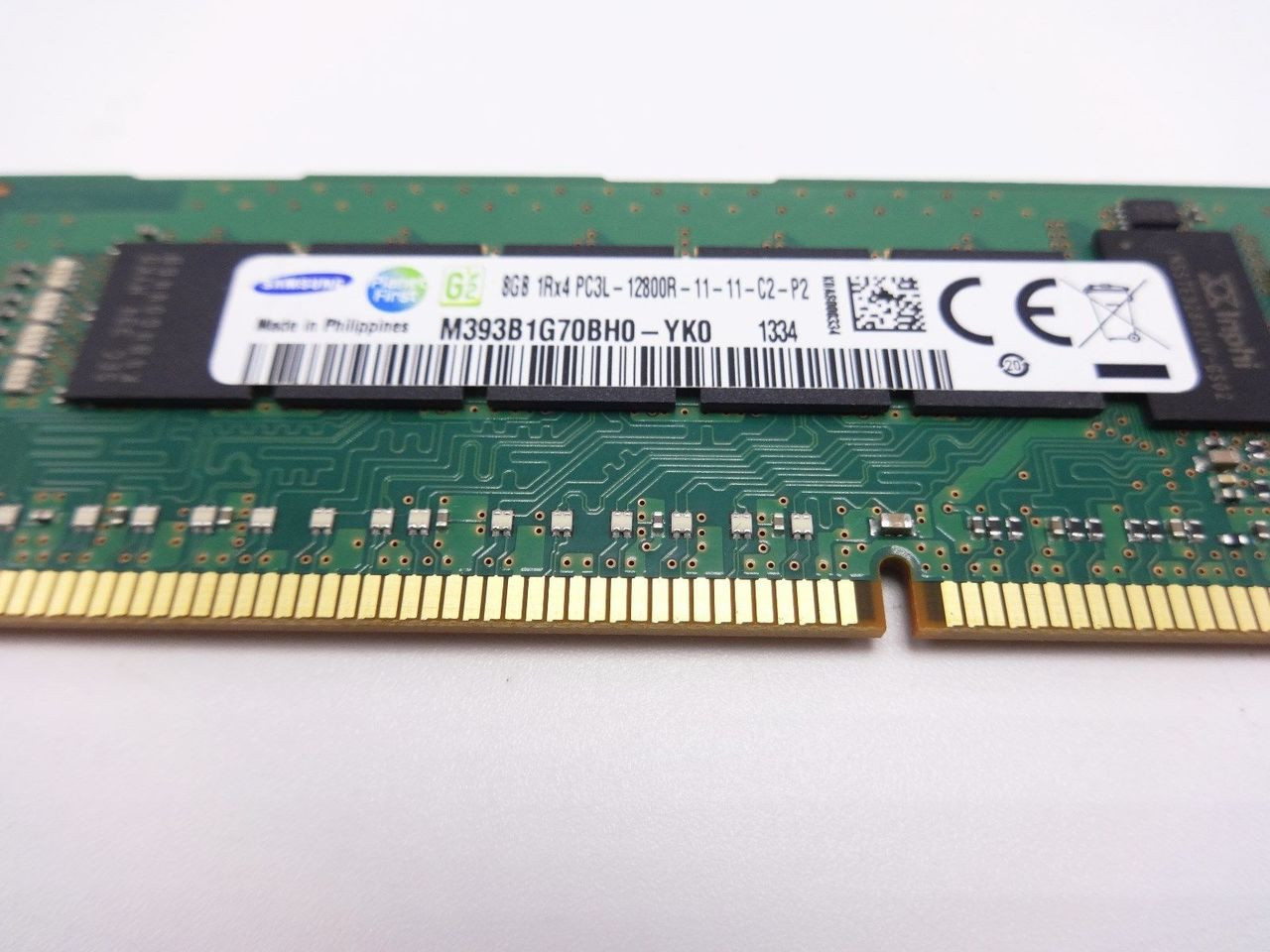 SAMSUNG M393B1G70BH0-YK0 8GB PC3L 12800R 1RX4 memory dimm ***Server memory only*