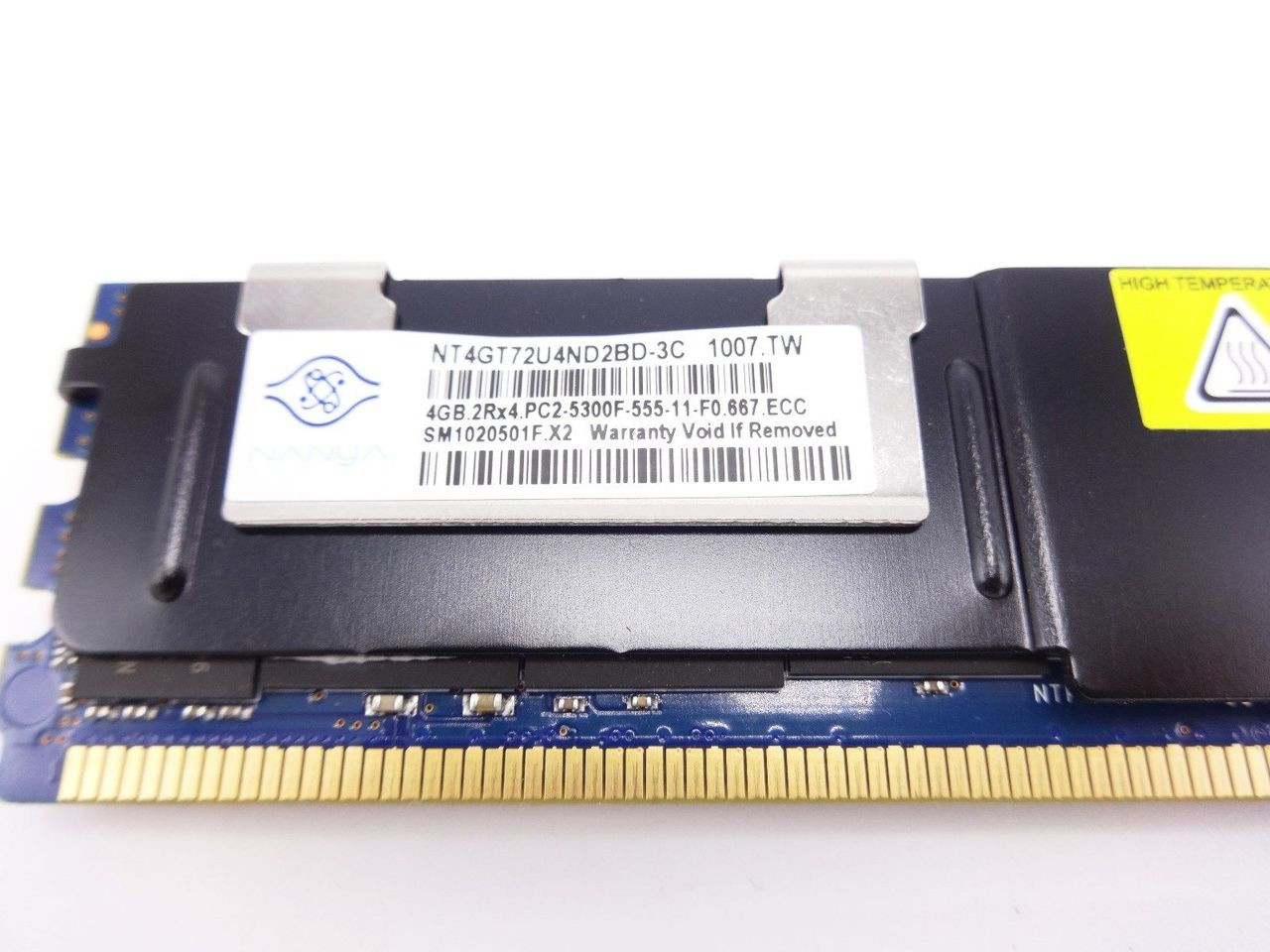 NANYA NT4GT72U4ND2BD-3C 4GB PC2 5300F 2RX4 memory dimm *Server memory*