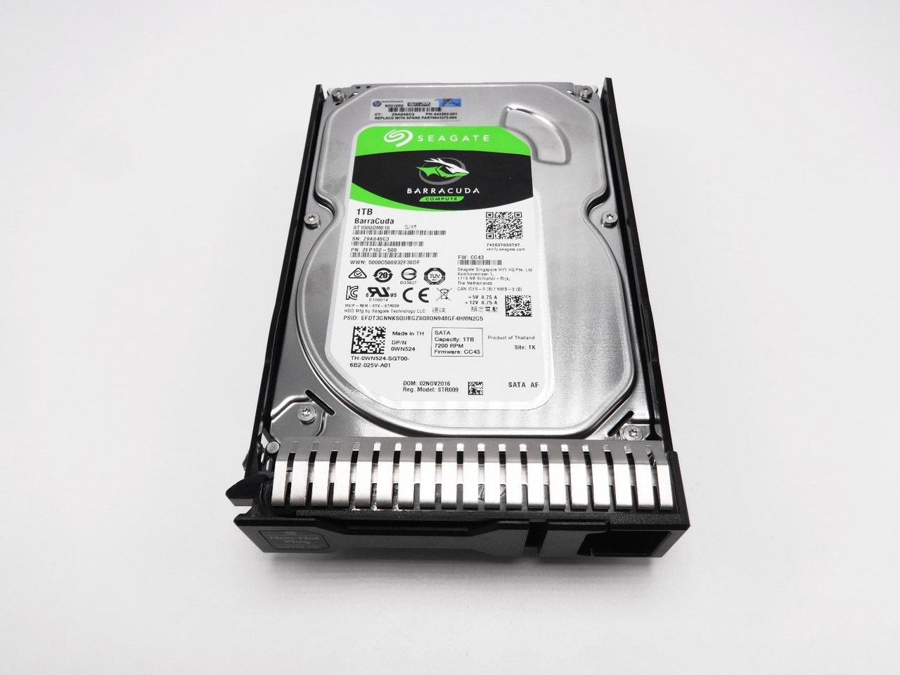 HP 843263-001 1TB Hard Drive 843272-004 with Gen 8 Tray 843272-004