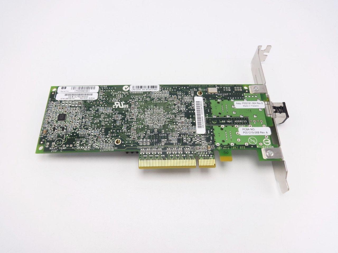 HP 489192-001 - HP STORAGEWORKS 81E PCI-E FC 8GB SP HBA UNUSED PULLS