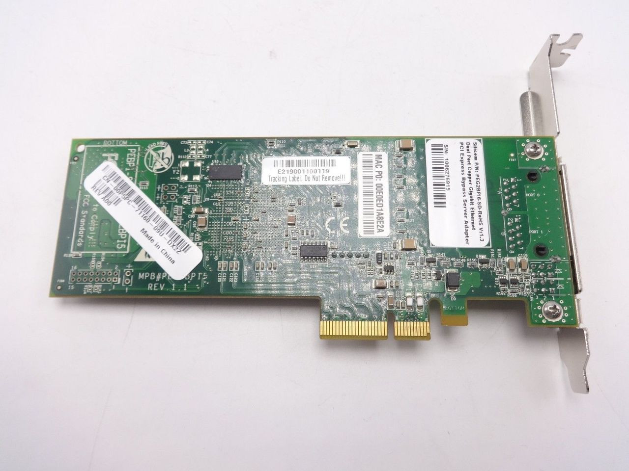 Dell 0P5PC Dual Port  Ethernet PCI-E Bypass 00P5PC