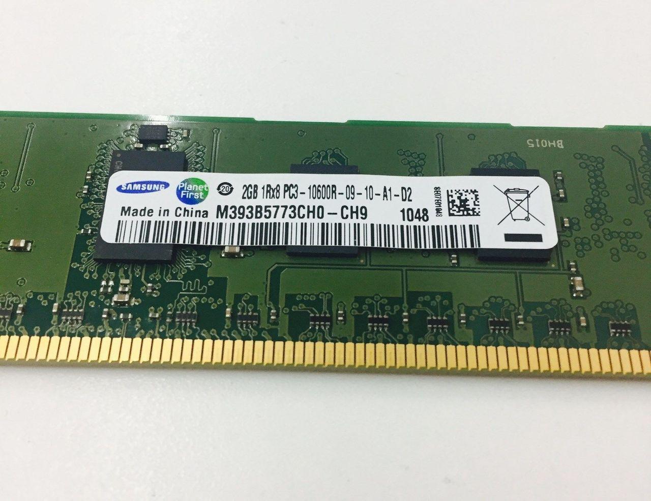 SAMSUNG M393B5773CH0-YH9 2GB SERVER DIMM DDR3 PC10600(1333) REG ECC 1.35v 1RX8 240P 256MX64 256mX8 C