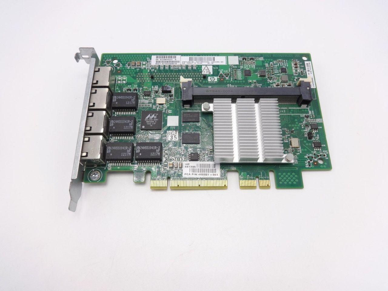 HP 468001-001 NC375i Quad Port Nic Adapter 491838-001 516437-B21
