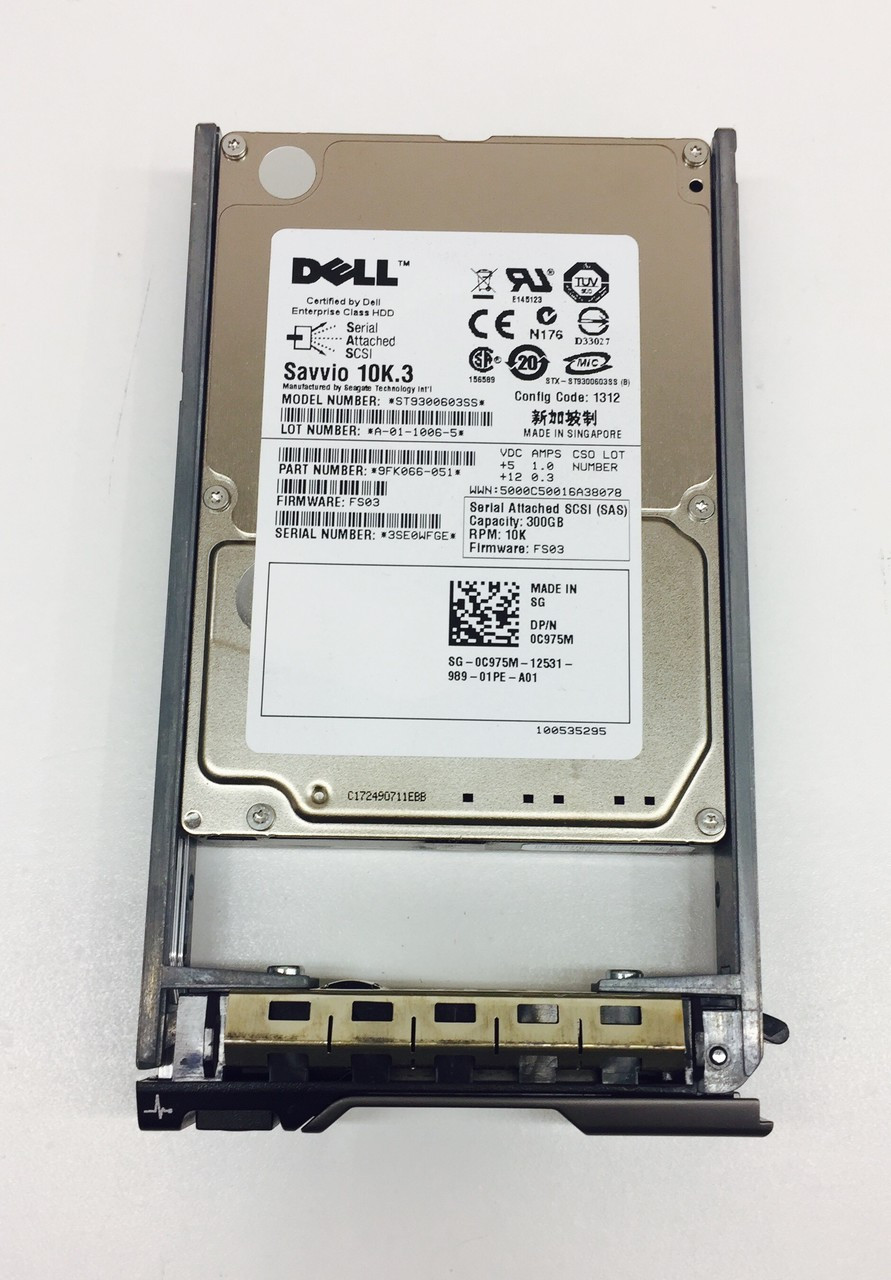 Dell C975M 300GB 6 0Gbps 10K 2 5