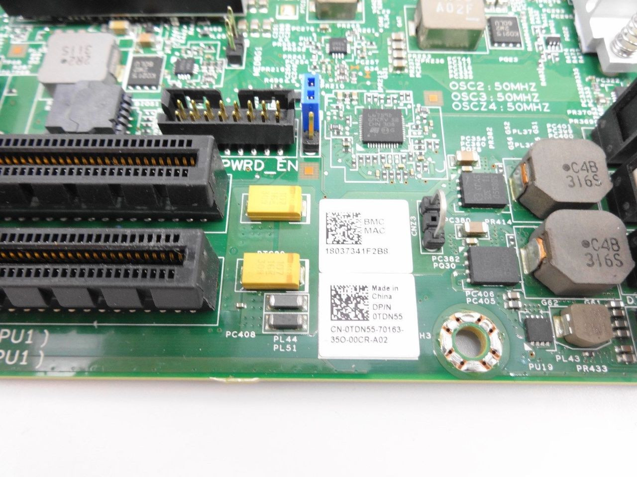 DELL TDN55 Poweredge C8220 System Board