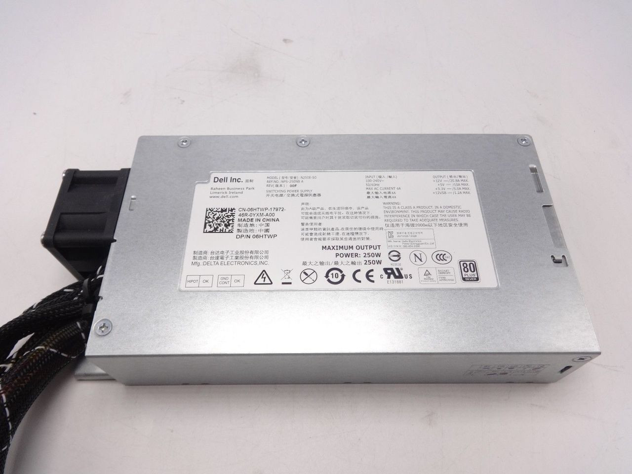 Dell 6HTWP 250W Power Supply R210
