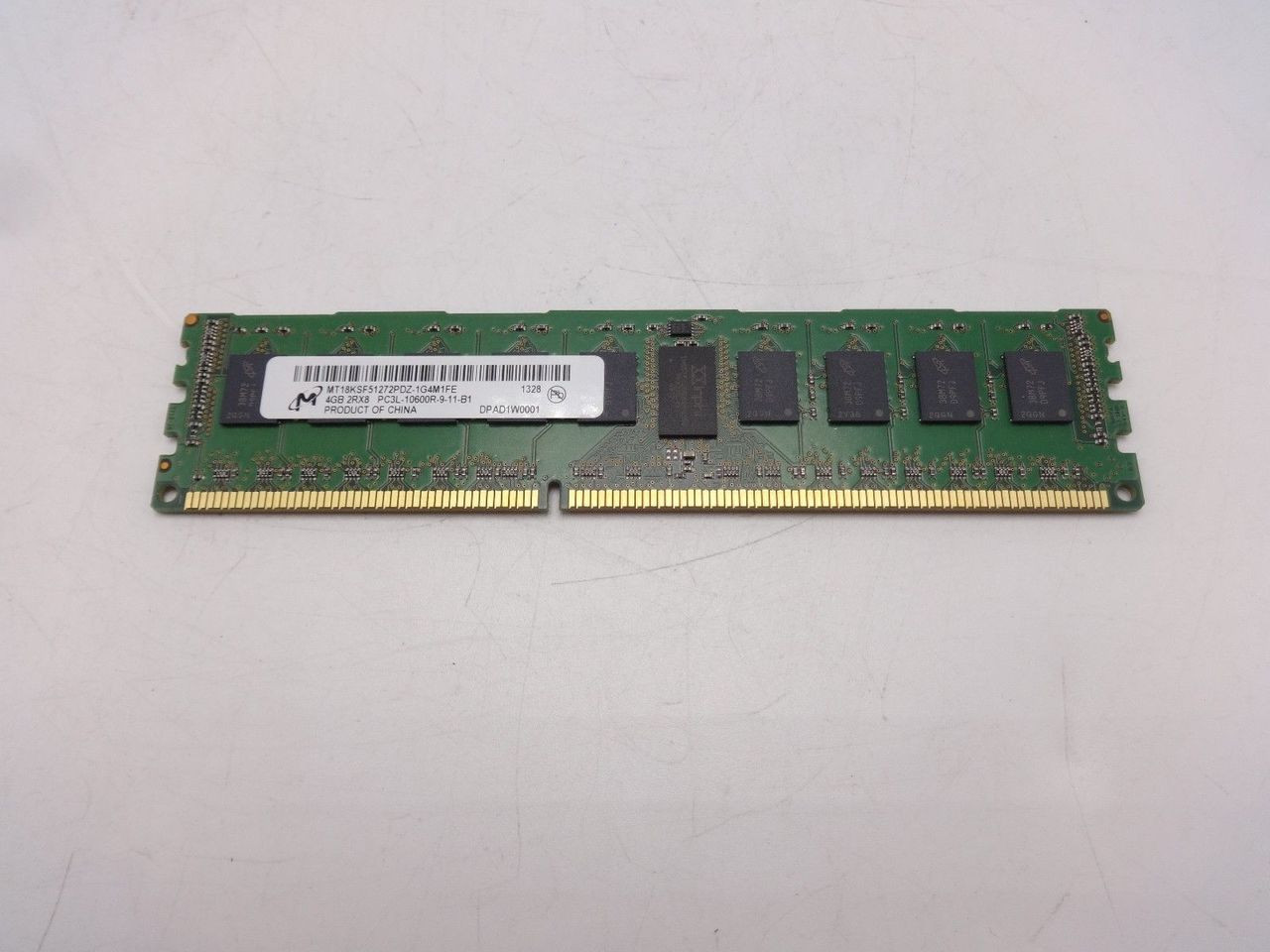 Micron MT18KSF51272PDZ-1G4M 4GB PC3L 10600R 2RX8 Memory Dimm