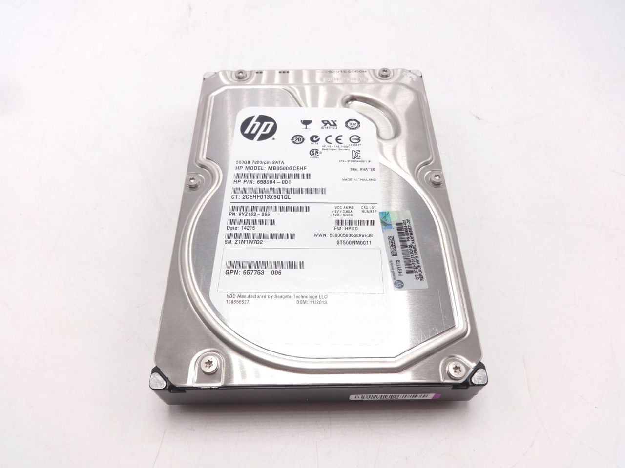 HP 659571-001 500GB 6G 7.2K SATA 3.5 NHP Hard Drive