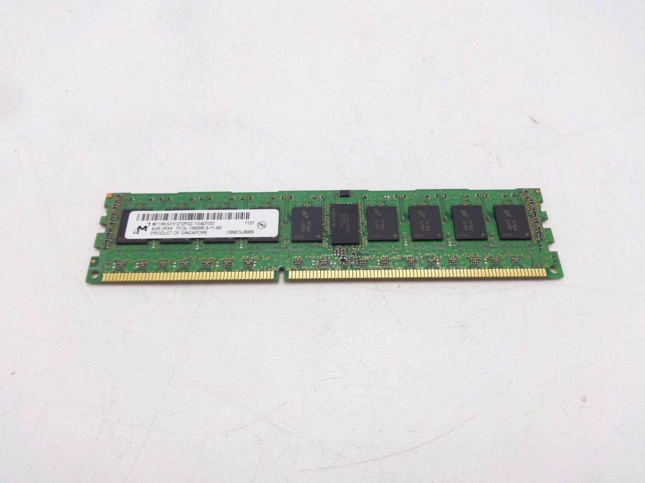 Micron MT18KSF51272PDZ-1G4D1 4GB PC3L 10600R 2Rx8 dimm