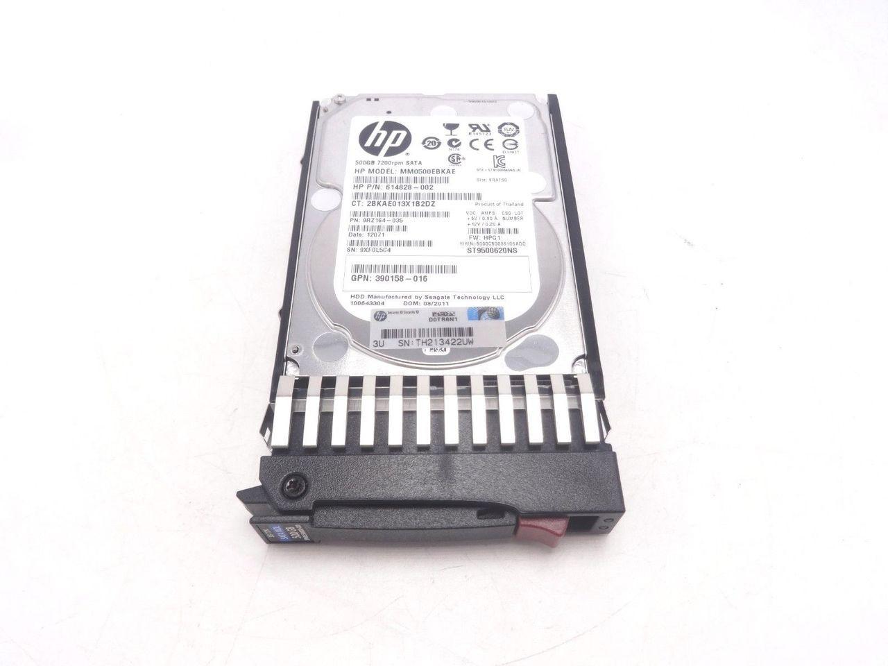 HP 508035-001 500GB Hot Plug MDL SATA 7200RPM 2.5 9FY156-784 507749-001