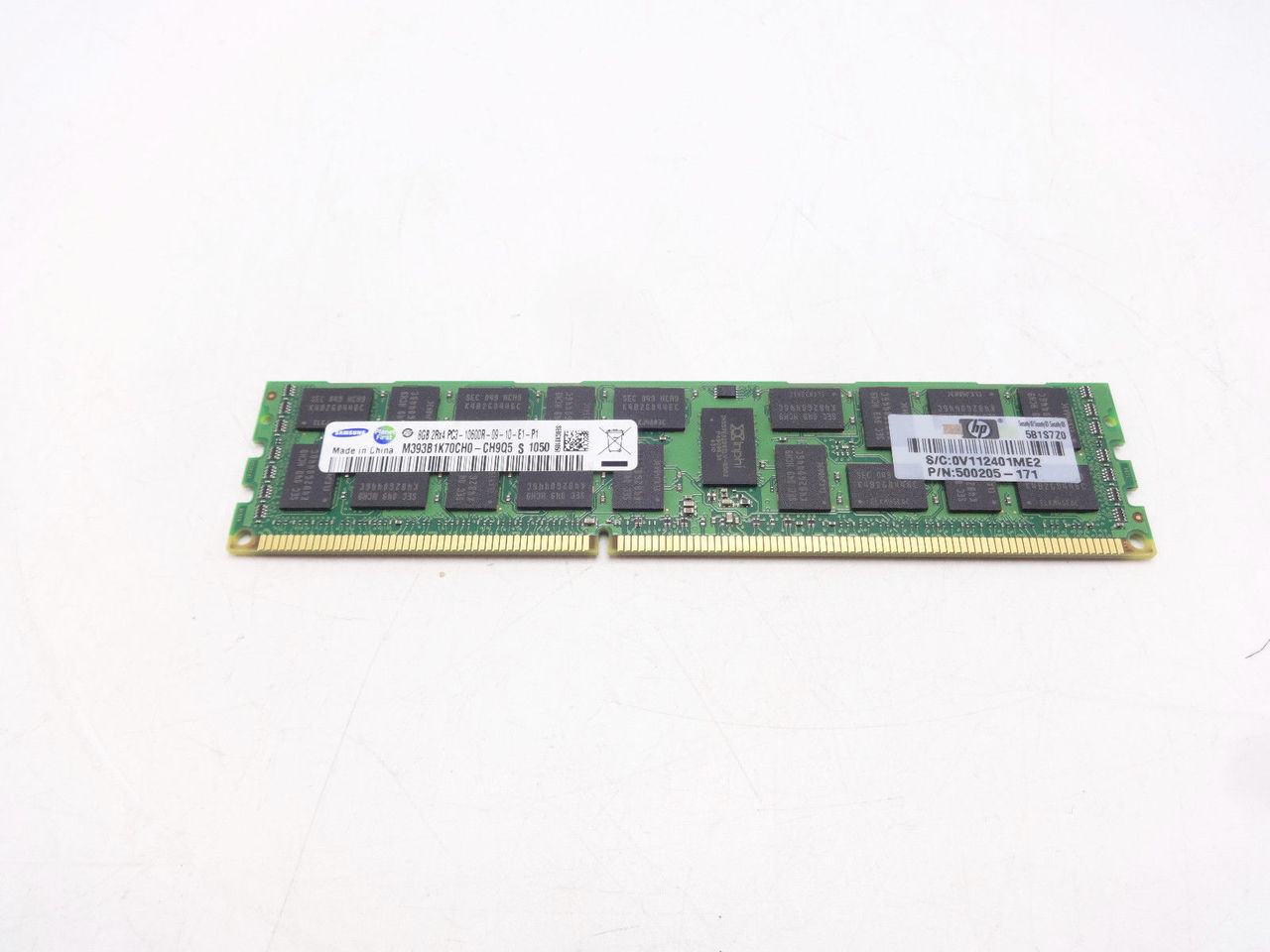 HP 593913-B21 HP 8GB (1X8GB) 2RX4 PC3-10600R-9 memory kit