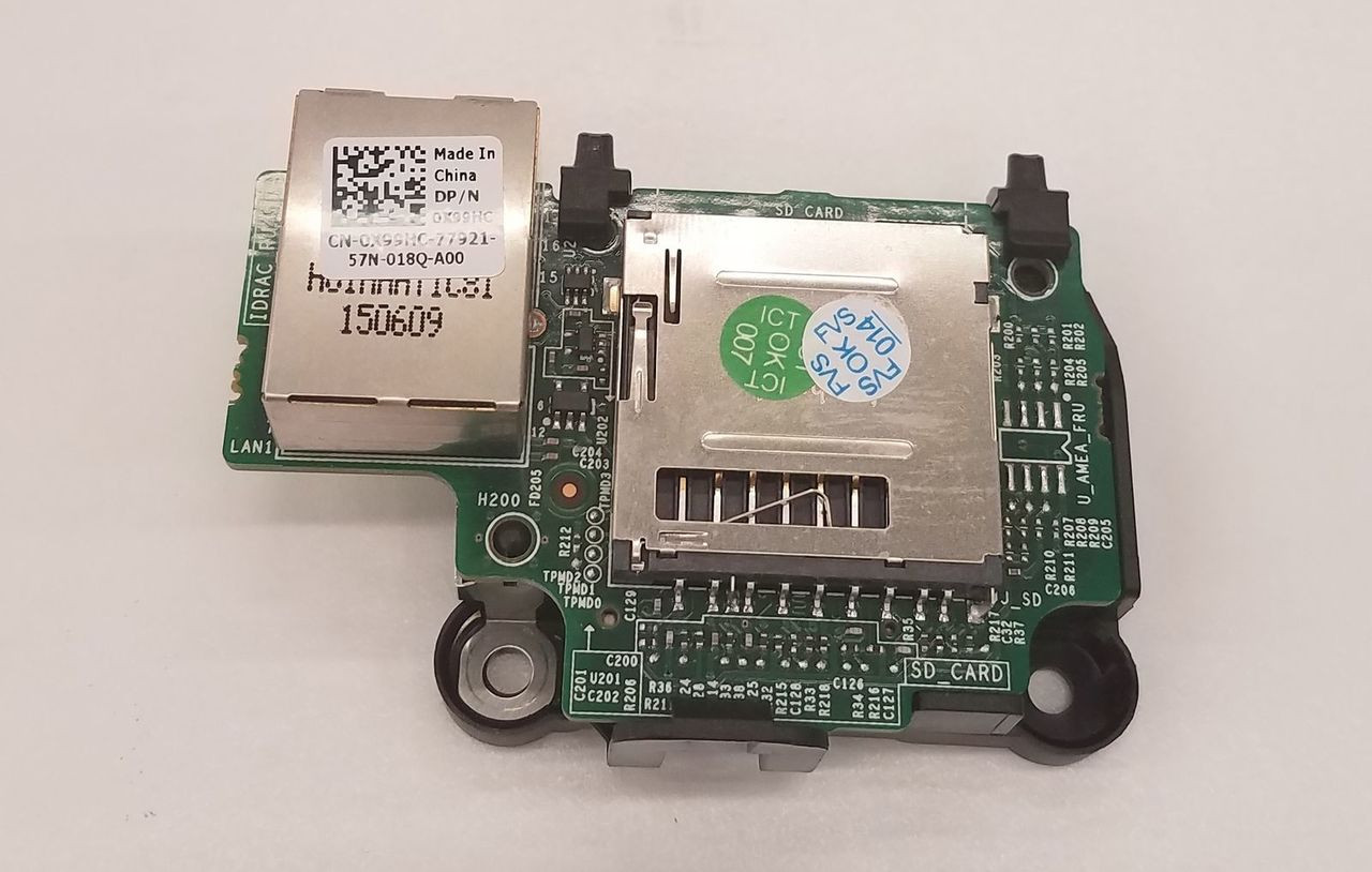 Dell X99HC IDRAC 8 Enterprise SD Reader T330 T430 R330 R430 R530