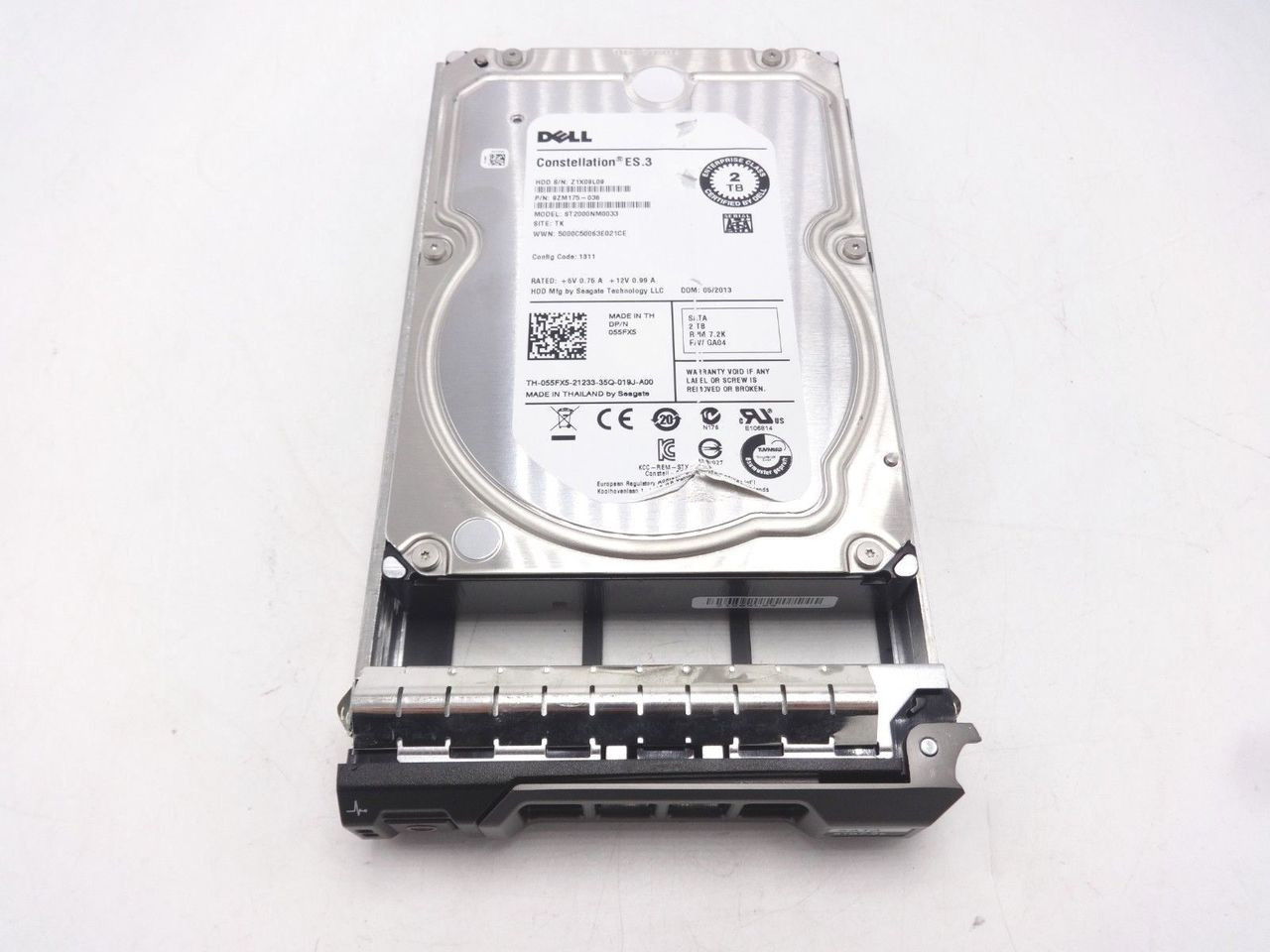Dell 55FX5 2TB SATA 7200 3.5 RPM Enterprise 6GBPS ** Torn Label **