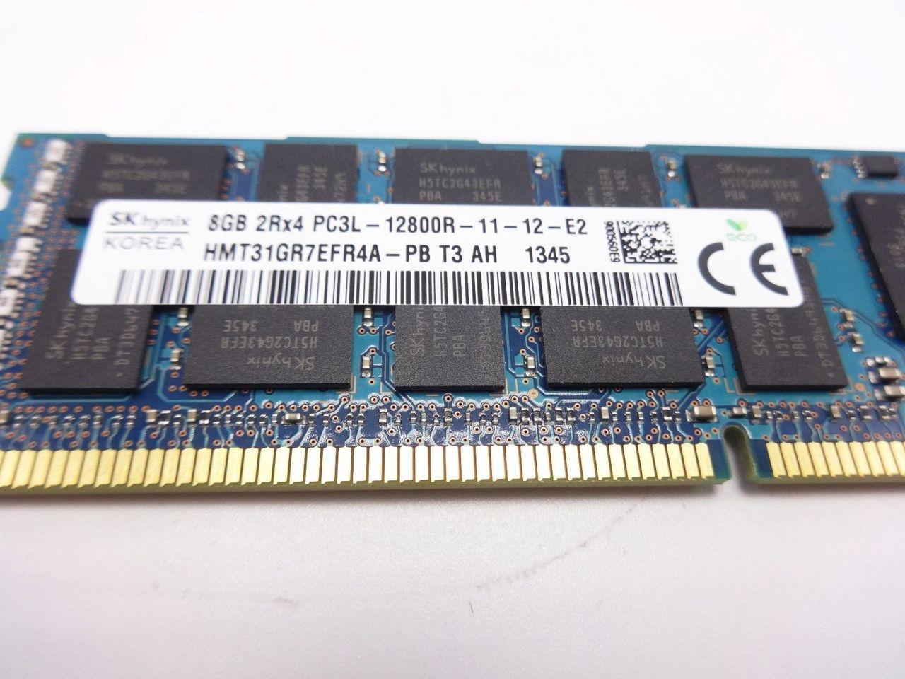 HYNIX HMT31GR7EFR4A-PB 8GB PC3L 12800R 2RX4 memory dimm
