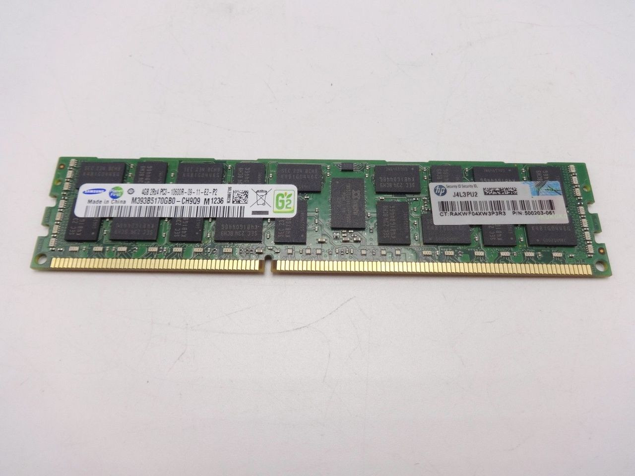 HP 500203-061 4GB DIMM PC3-10600R 256MX4 ROHS 500658-b21***Server Memory Only***