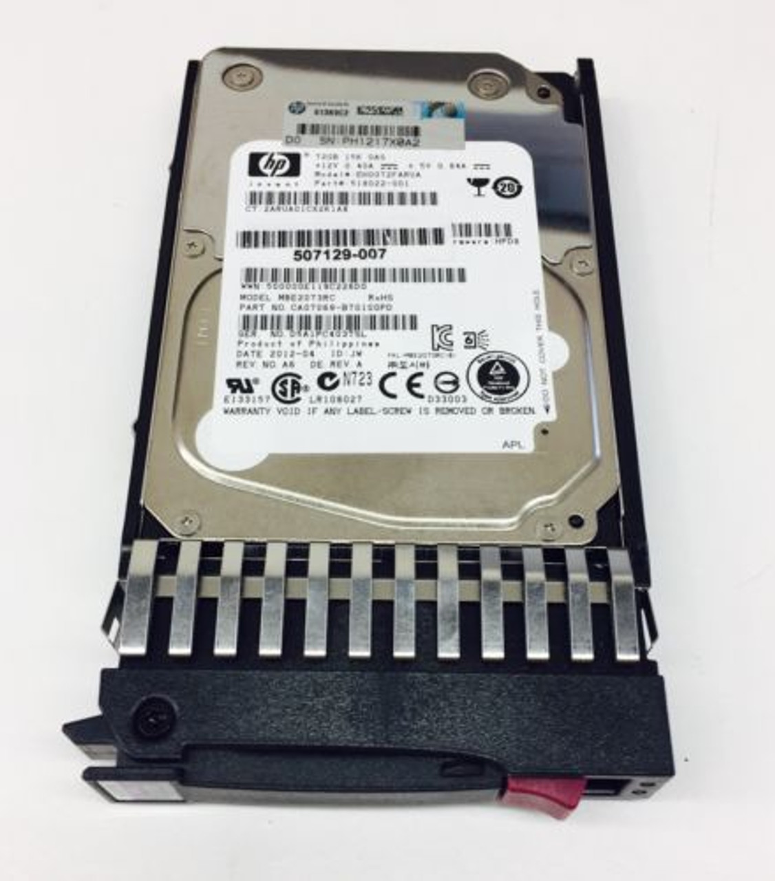 HP 512743-001 72GB 15K DP 6G 2.5 SAS