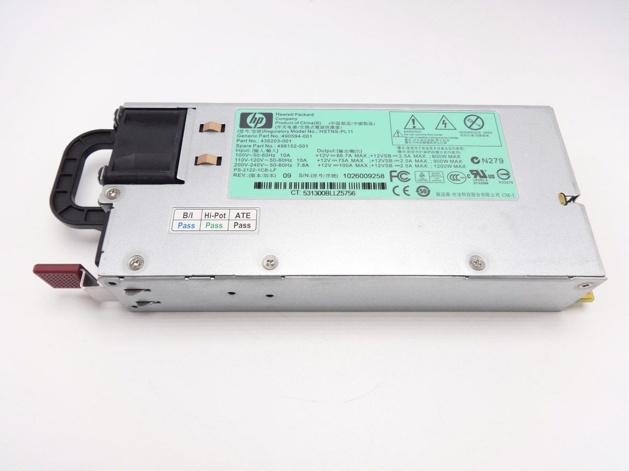 HP 498152-001 1200W DL380 G6 power supply 490594-001 438203-001