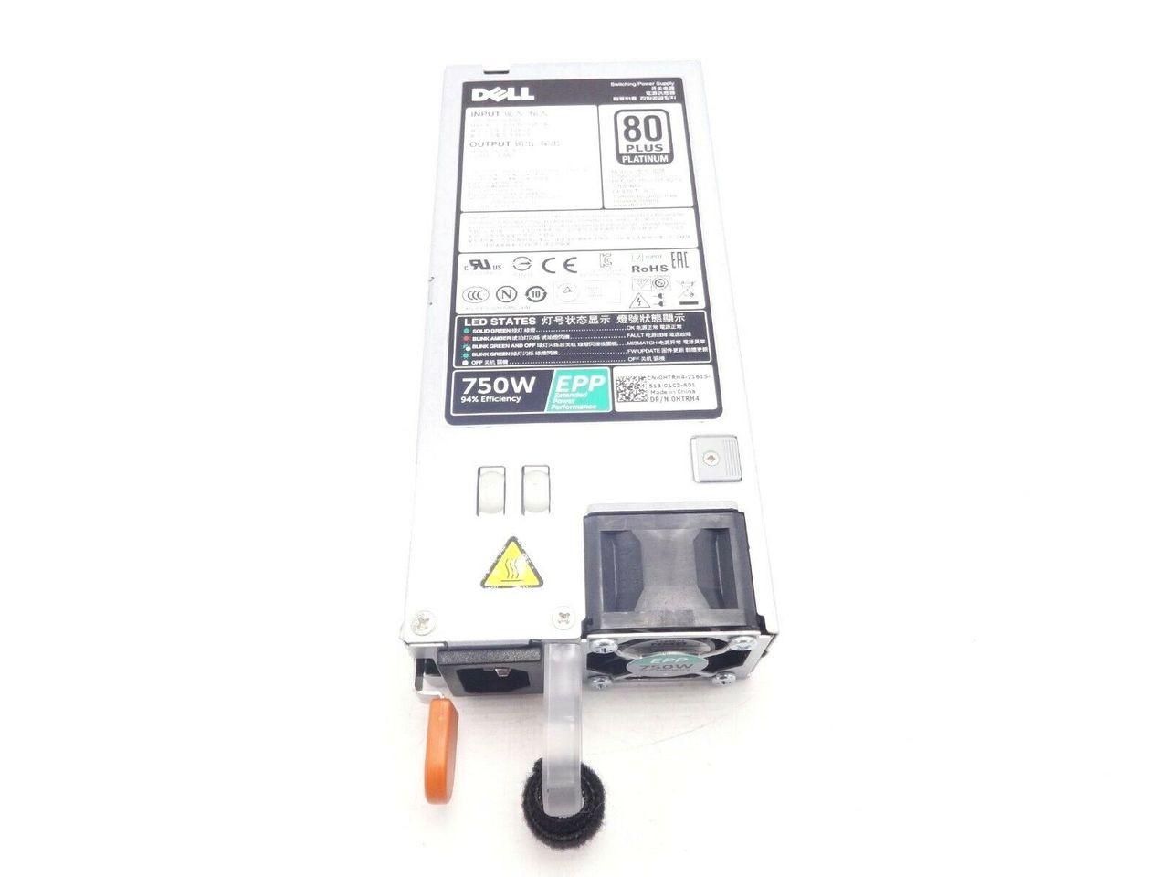 Dell HTRH4 750w Power Supply 80+ R530 R630 R730 R930 T430 T630