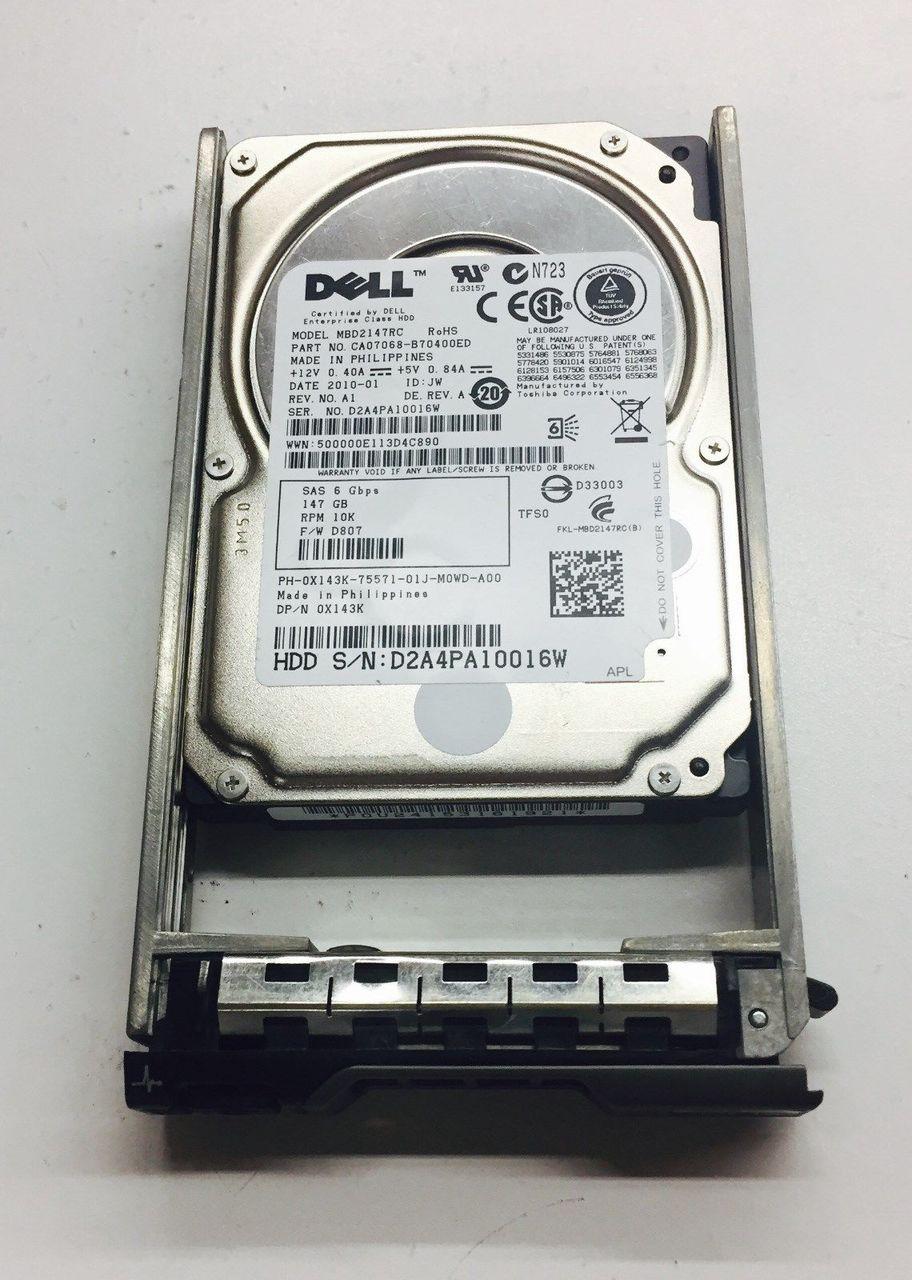 """Dell T855K 146GB 10K SAS 2.5/"""" 6GBPS Hard Drive"""