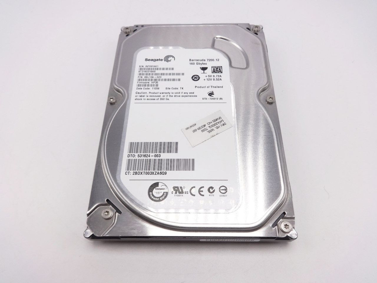 HP 453139-001 160GB SATA 3.0Gb/s 7200RPM 3.5 internal hard drive