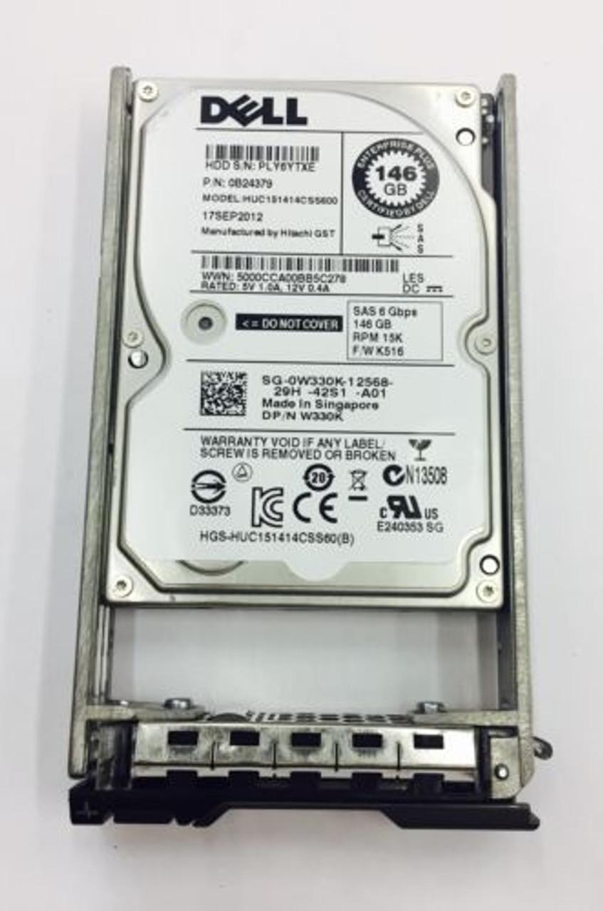 Dell W330K 146GB 15K SAS 2.5 6GBPS