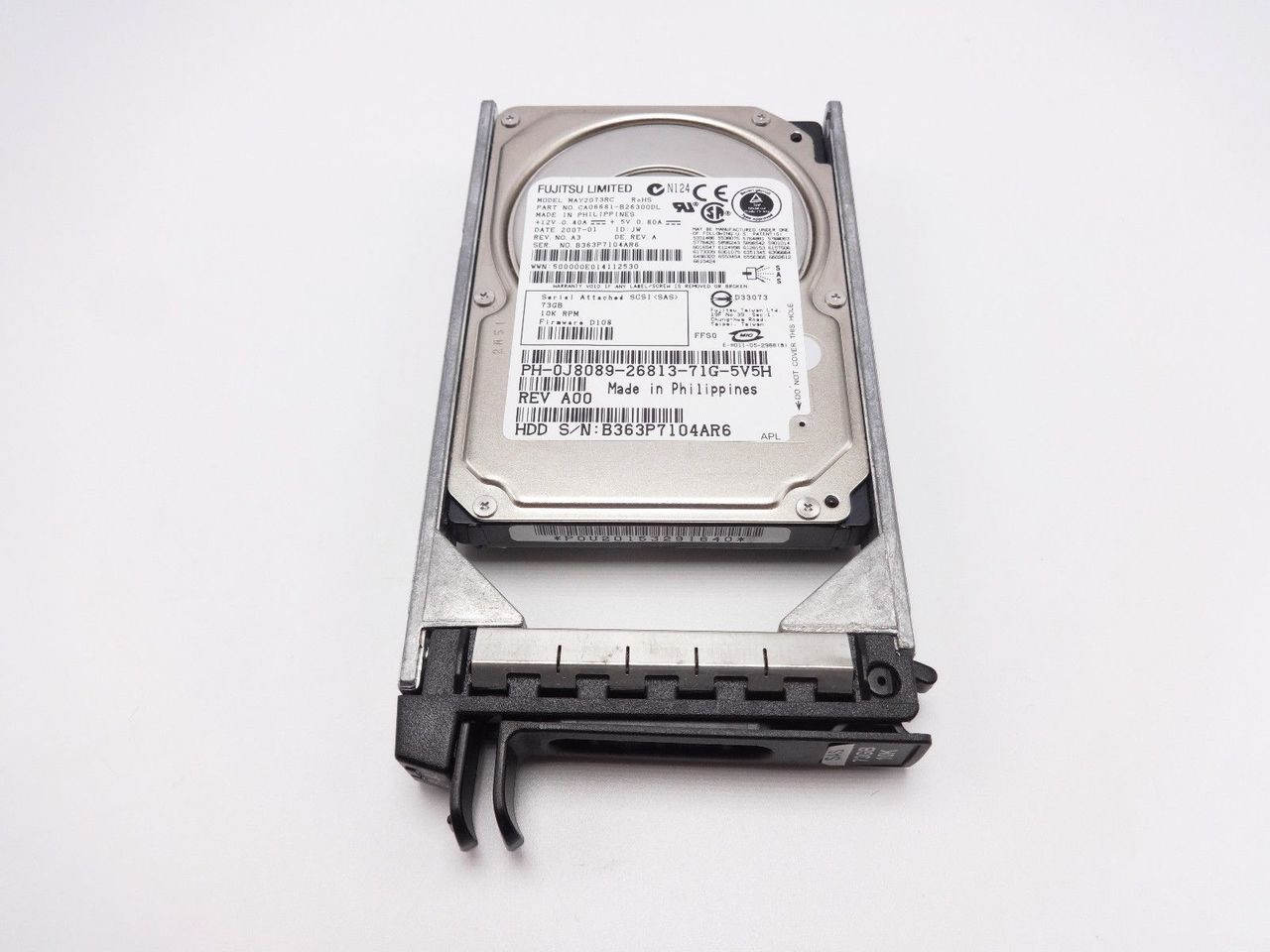 DELL J8089 73GB 10K SFF SAS DRIVE 2.5 MAY2073RC CA06681-B26300DL