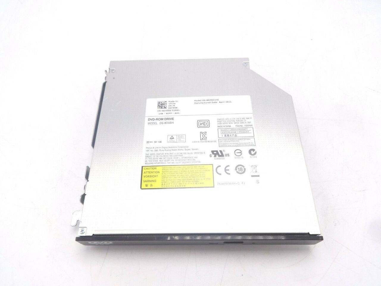 HP 6F95X Optiplex 8x Slimline Sata DVD-ROM Drive DS-8D3SH