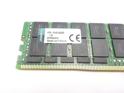 Kingston KTH-PL421LQ/32G 32GB 4Rx4 PC4 17000 Server Memory Dimm