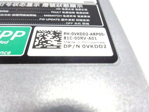 Dell VKDD2 495Watt 80+ Power Supply R730, R630, T430, T630