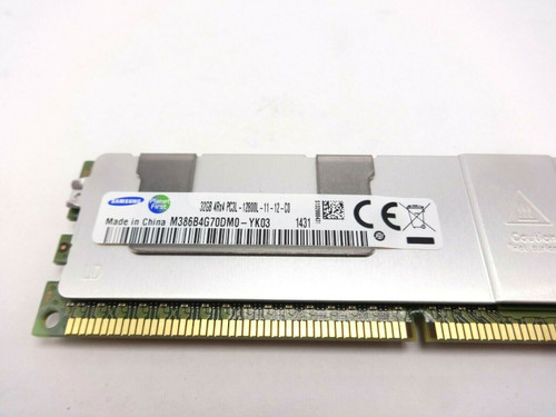 Samsung M386B4G70DM0-YK03 32GB 12800L 4Rx4 PC3L Server Memory
