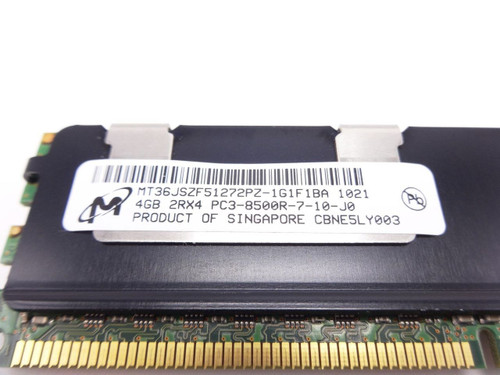 MICRON MT36JSZF51272PZ-1G1 4GB PC3 8500R 2RX4 memory dimm **Server memory only*