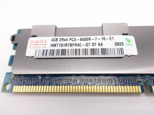 HYNIX HMT151R7BFR8C-G7 4GB PC3 8500R 4Rx8 memory dimm *Server memory only*
