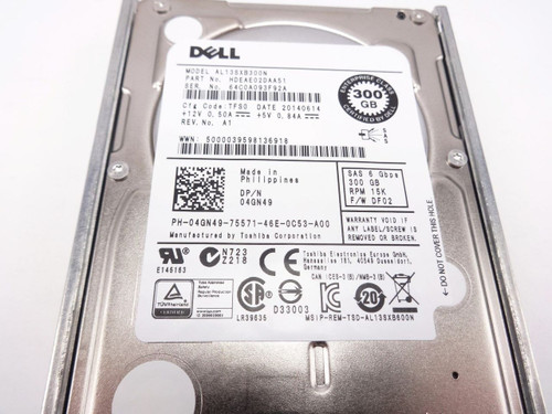 Dell 4GN49 300GB 15K 2.5 SAS 6Gbps hard drive