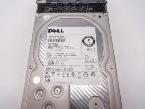 Dell VYRKH 2TB 3.5 NL SAS 7200RPM 6GBPS HUS723020ALS640 0VYRKH