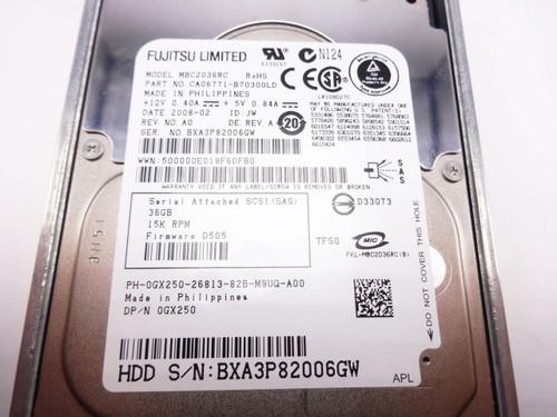DELL GX250 36GB 15K SAS 2.5 PH-0GX250 0GX250 MBC2036RC