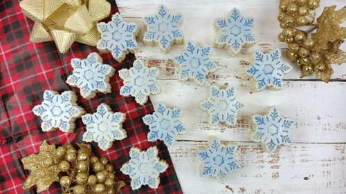 Peppermint Snowflake Holiday Sea Salt Soap Gift Set