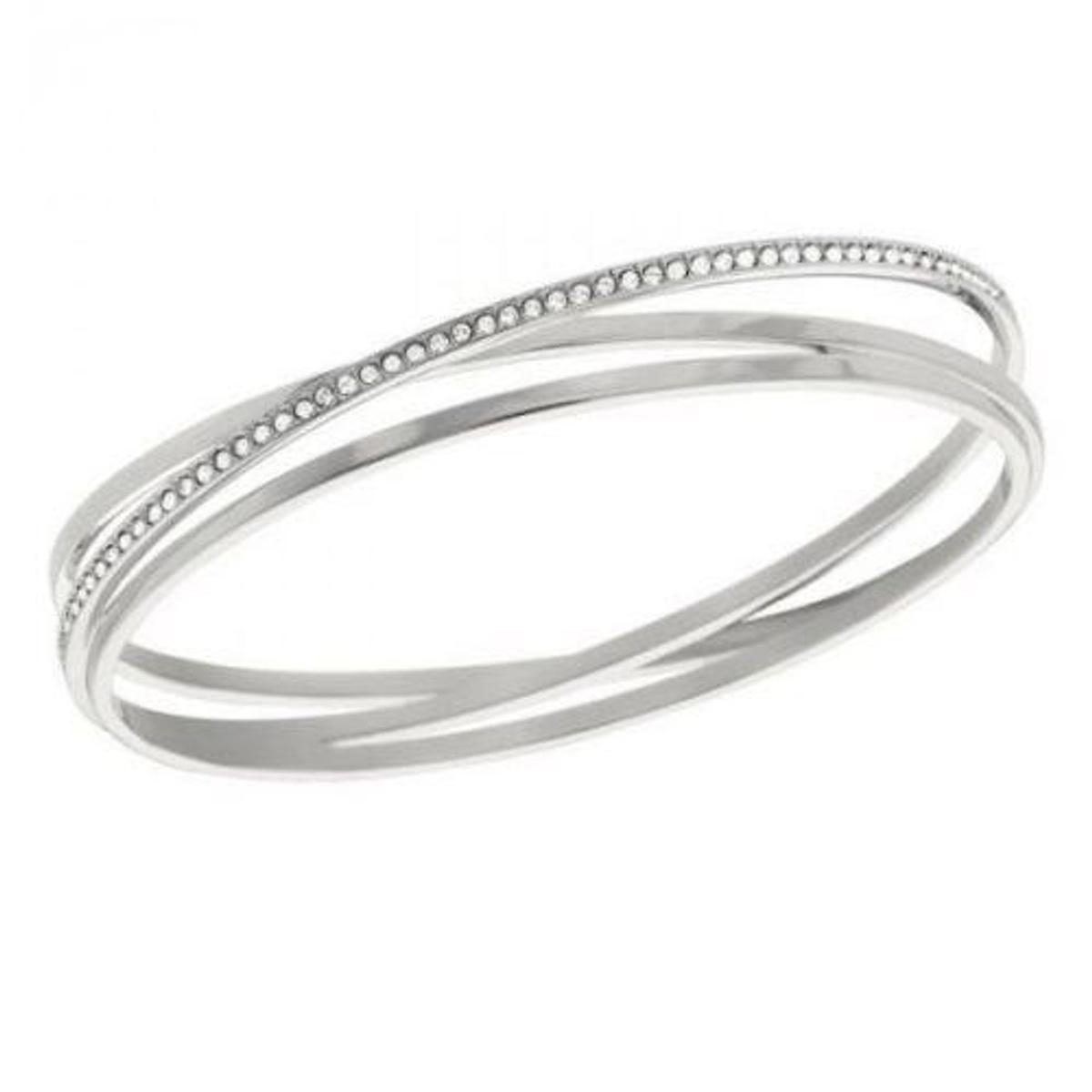 Spiral Crystal Bangle