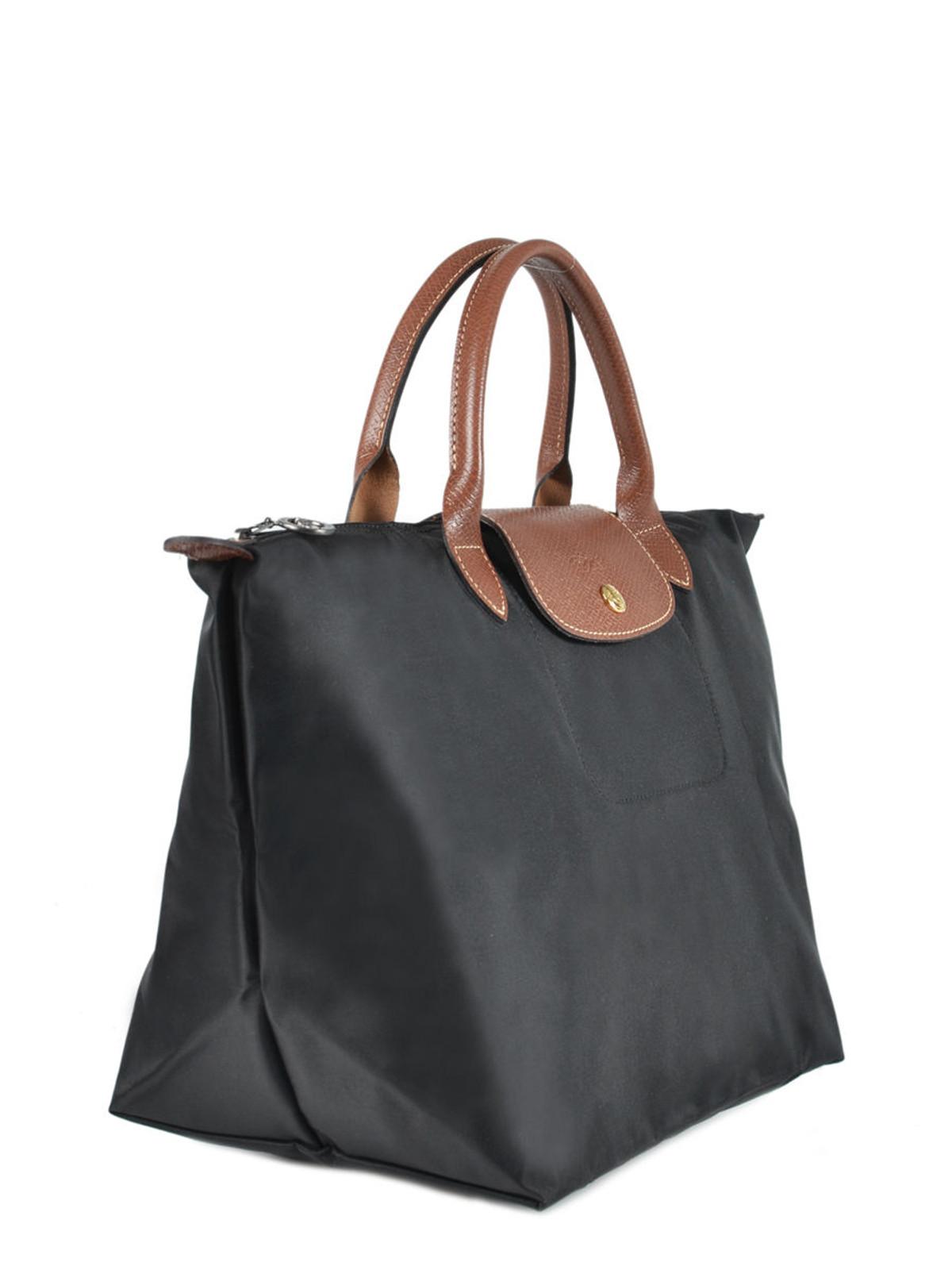 Le Pliage Medium Top Handle Bag in Black