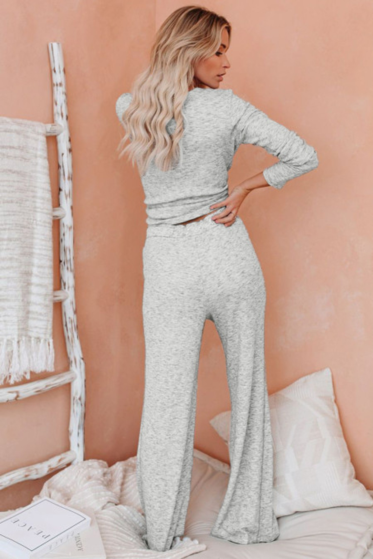 Comfy Cotton Lounge Top and Pant Set (FRE45066-11)  FRE4506611G2XL