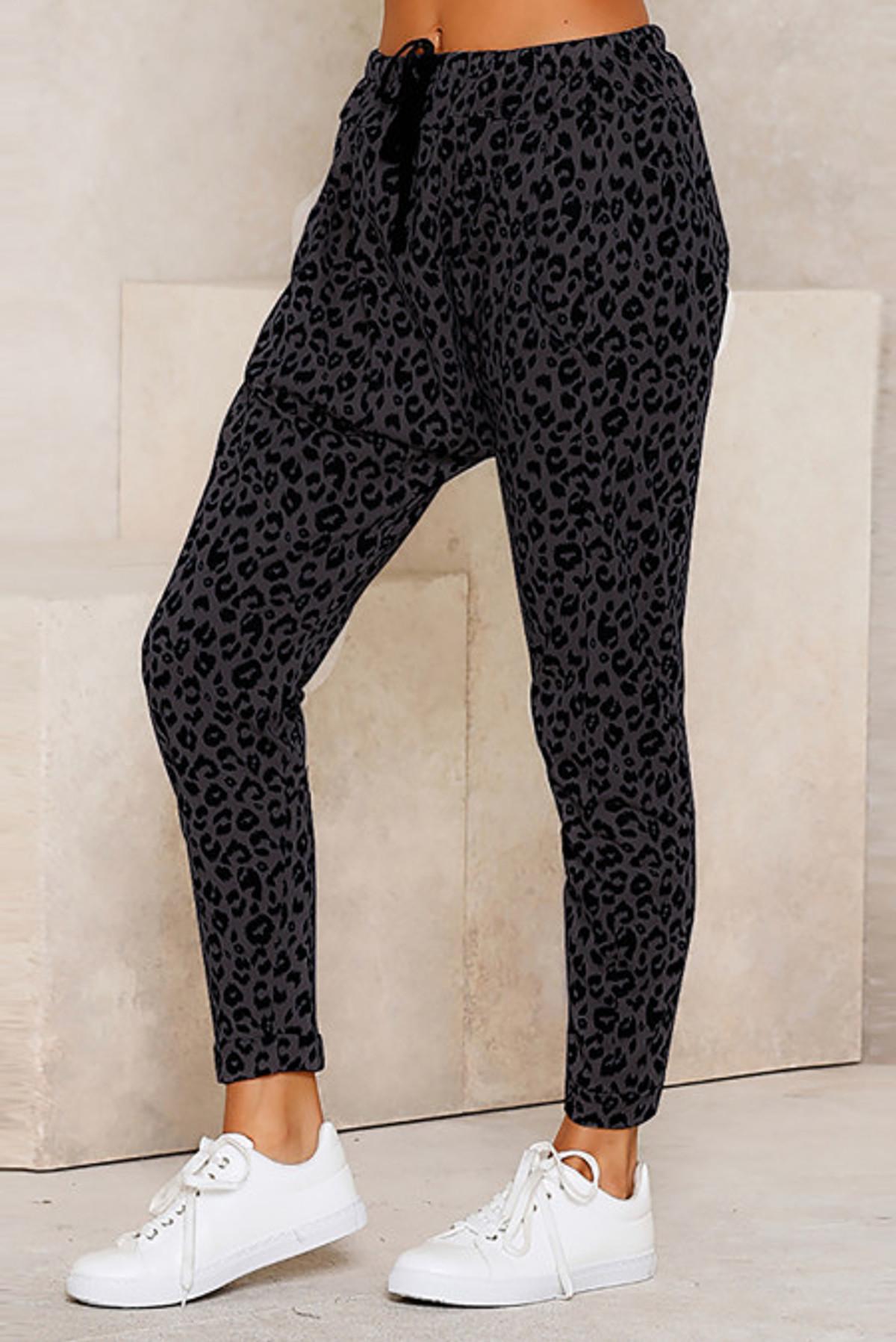 Leopard Print Lounge Pant (FRE77289-2)  FRE772892BL