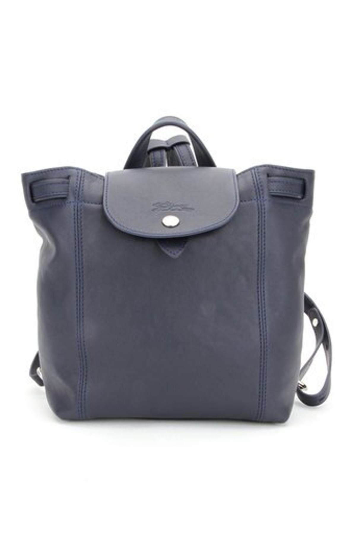Le Pliage Cuir XS Backpack in Navy