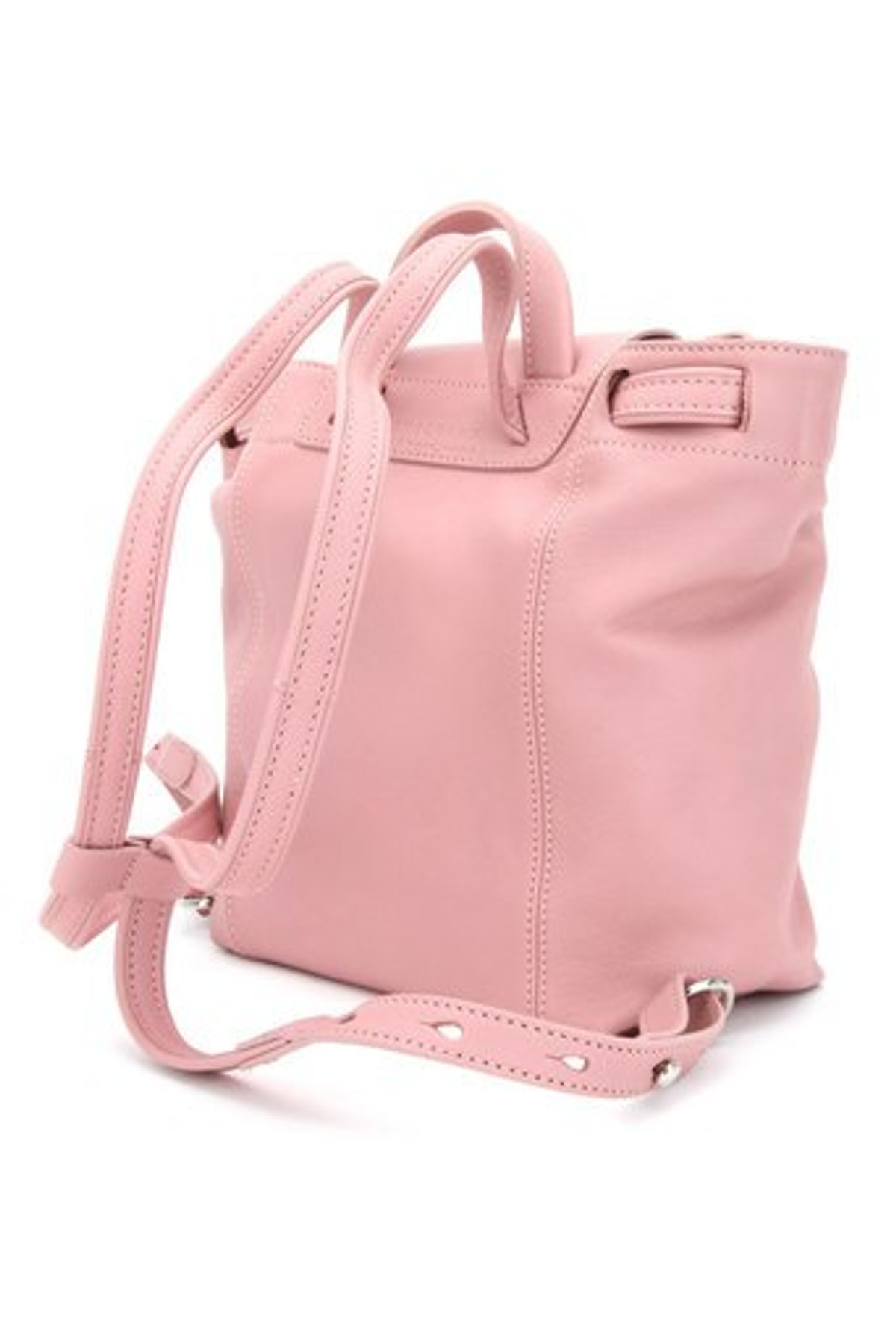Longchamp Le Pliage Cuir XS Backpack in Blush