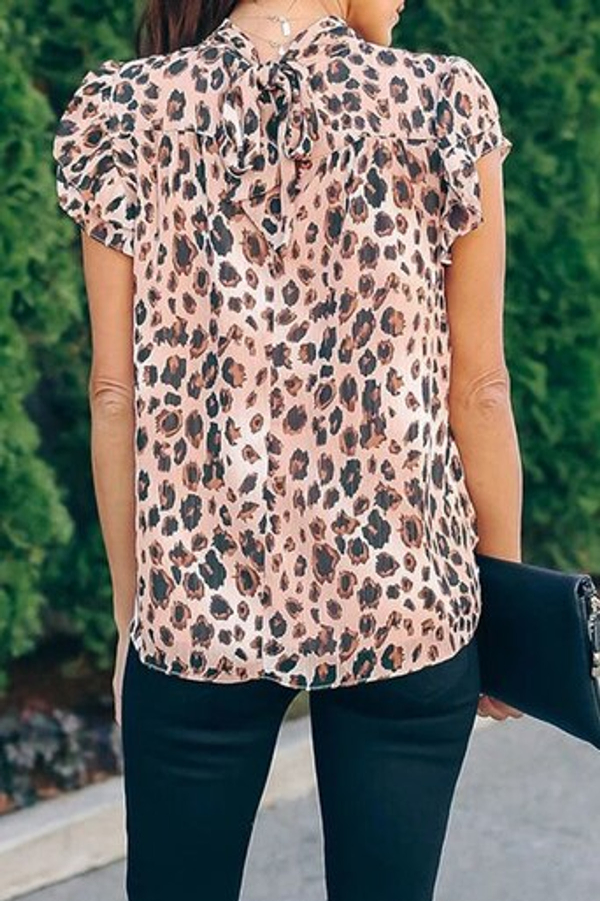 Wild Child Shimmer Leopard Ruffle Blouse FRE253398-20